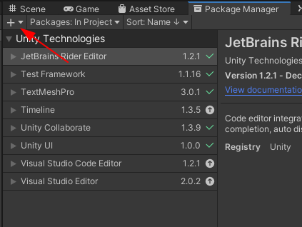 Unity Package Manager